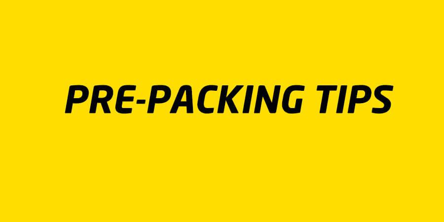 pre-packing tips - for moving home.